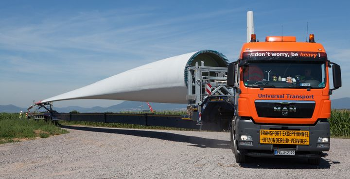 Windkraft transport
