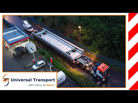 from Genthin to Halle/Saale with bridge parts - Universal Transport