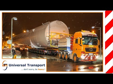 Universal Transport - with 230to. and 22axles...