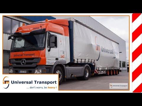 Universal Transport - Safely stored under tarp despite overwidth