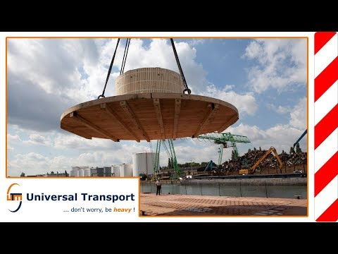 Universal Transport - Heavy load transport with 8.5 metres breadth and 92 ton total weight