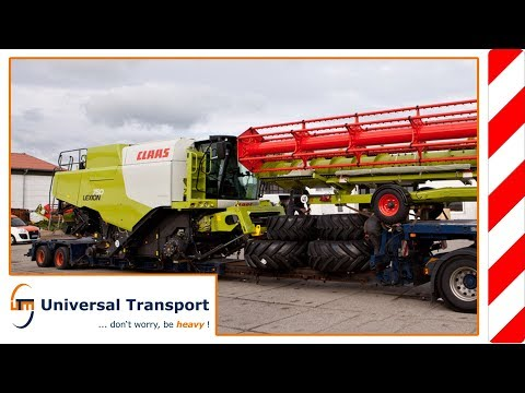 Universal Transport - Transport and unloading of a Claas combine harvester