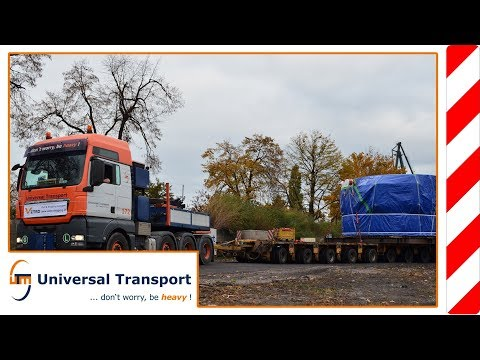 Universal Transport - Transport of a tunnel drilling machine in Gdansk