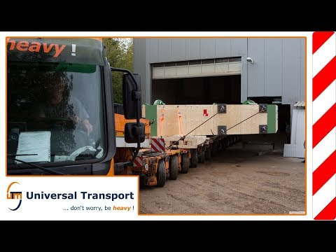Universal Transport - On the road with 18 axles and 100 tons