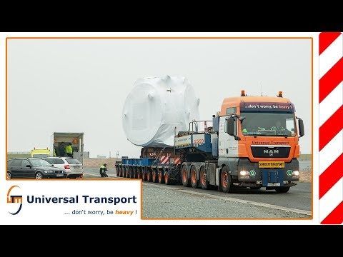 Universal Transport - to water, to land...transport of wind power components