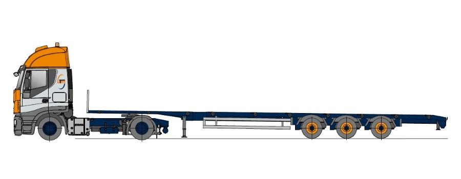 Megasattel, mehrfach teleskopierbar