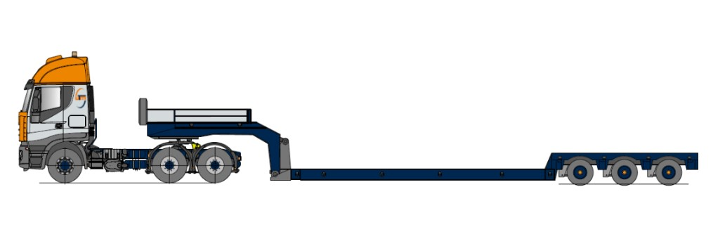 Tiefbett, teleskopierbar