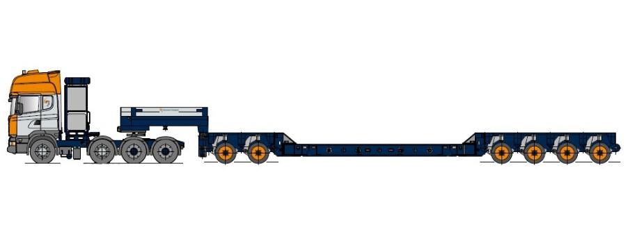 Kesselbrücke mit Achsmodul und Einbauträgern